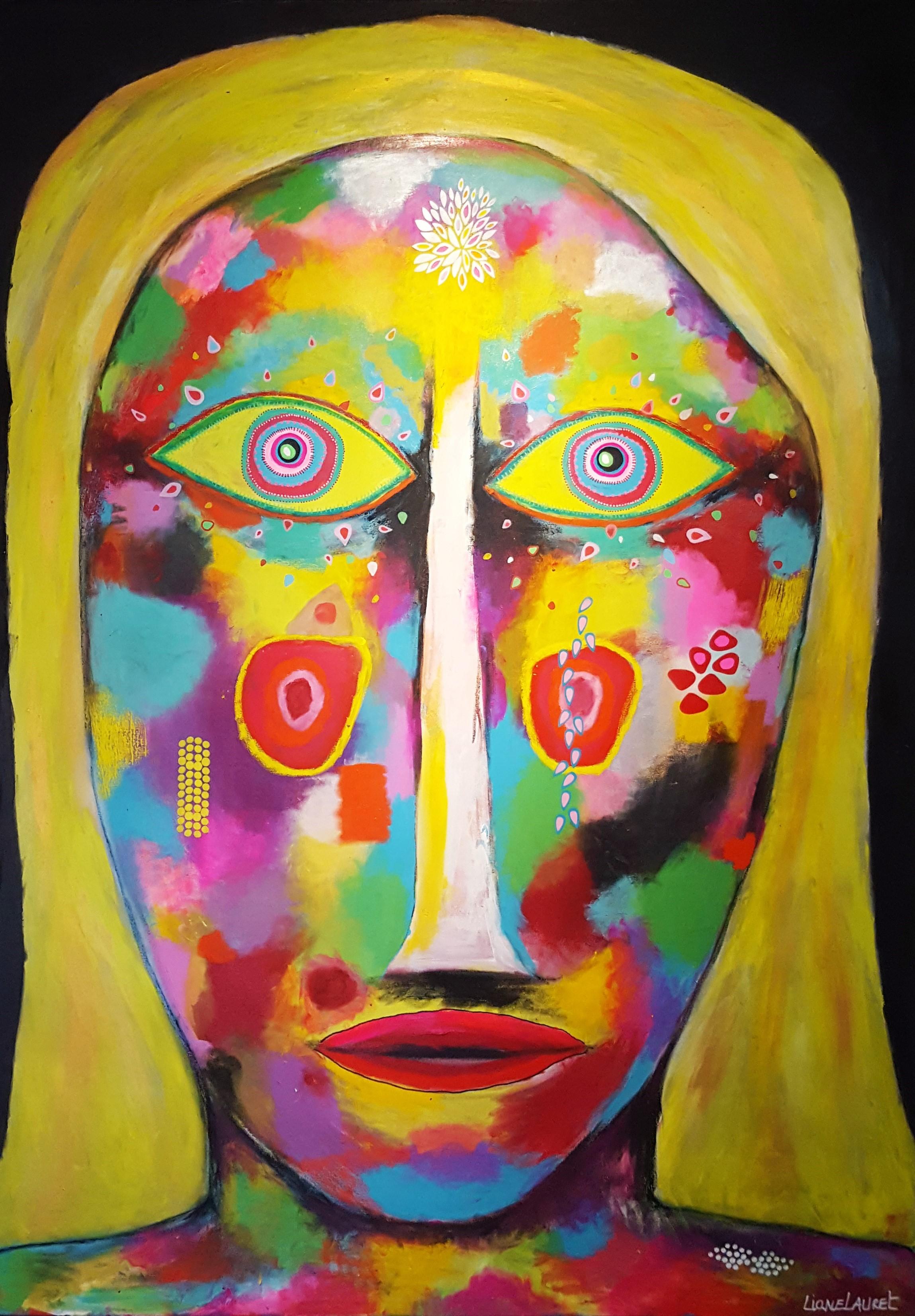 Sara Moon 문 사라, acrylic on canvas , 200 cm 140 cm, 2016.jpg