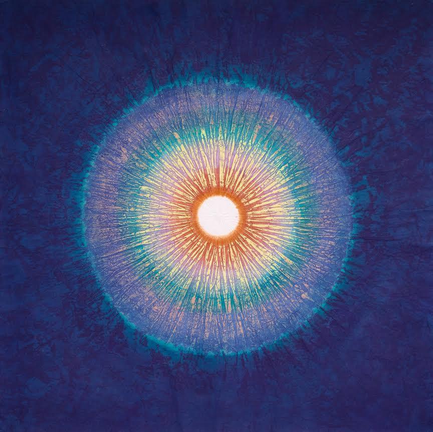 방혜자, 빛의 탄생  Naissance de lumière, 판화(실크스크린),  60x60cm, 2016.png